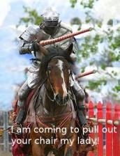 Image of knight in shining armor