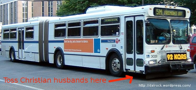 Throwing Christian husbands under the bus.